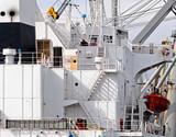 Frachtschiff Fracht achtern