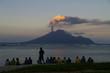 Vulkan Lopevi  Vanuatu, Ausbruch in Abendstimmung - 13275849