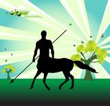 Centaur with spear poster