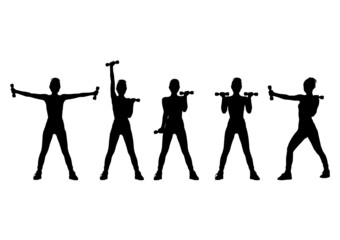fitness silhouettes 3