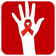 Stop AIDS hand