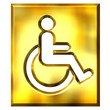 3D Golden Special Needs Sign