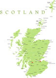 Scotland map part of the United Kingdom. poster