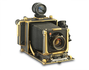4 x 5 view camera with clipping path