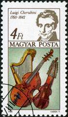 Hongrie. Magyar Posta. Luigi Cherubini. Timbre Postal.