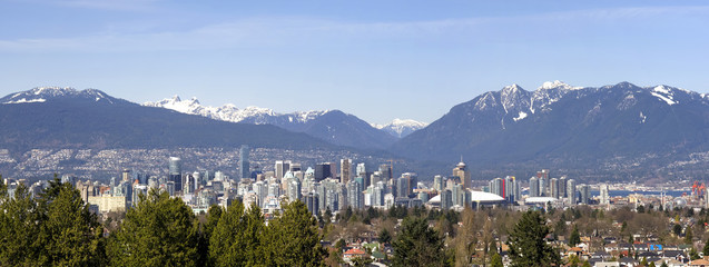 Vancouver, Canada flanked by Mountains