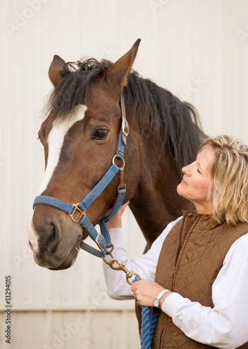 Woman Looking at Horse