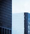windows of office buildings