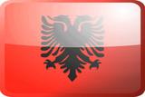 Flag of Albania,  button poster