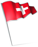 Flag pin - Switzerland