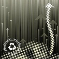 Pollution Abstract halftone background, vector layered.