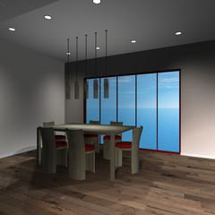 Modernes Haus-Esszimmer