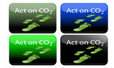 Act on Co2 glossy rectangles poster