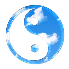 yin and yang in clouds