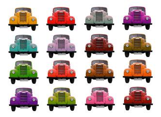 Camiones de colores
