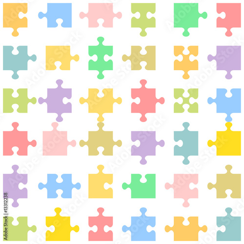 jigsaw puzzle template. Jigsaw puzzle pieces of