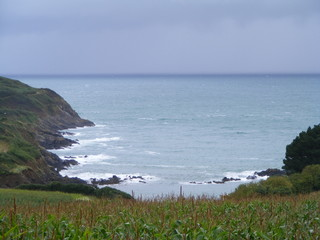the sea before storm,bretagne, saint quay portrieux, france