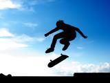 Stunt of skater poster