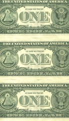 detail one dollar (three notes)