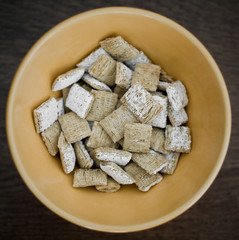 Shredded Wheat Cereal in bowl