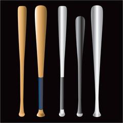 Assorted Baseball bats