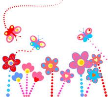 Streszczenie kwiatów tle