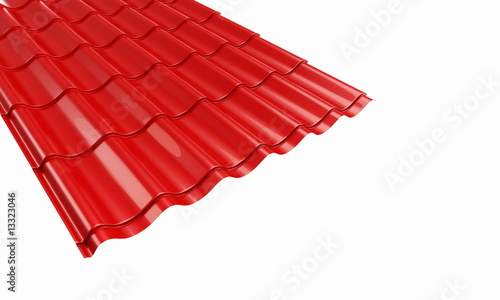 roof red metal tile