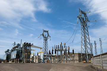 station power to processing of high tension electricity