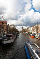 Canal bus excursion in Amsterdam