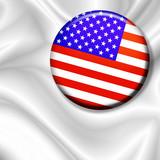 Bandiera Spilla Stati Uniti-U.S.A Badge Flag-Drapeau Etats Unis poster
