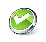 Fototapety bouton validation