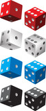 multiple colored pairs of dice