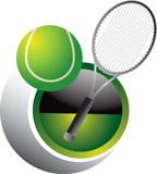 Tennis Swoosh poster