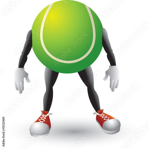 Tennis ball cartoon man