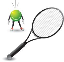 Scared tennis ball