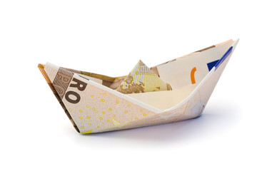 european currency sailboat