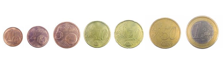 Monete da un centesimo a un euro