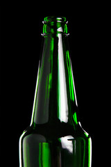Glass bottle Silhouette, isolated on black