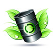 Baril énergie verte et recyclée