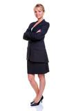 Blonde businesswoman full length poster