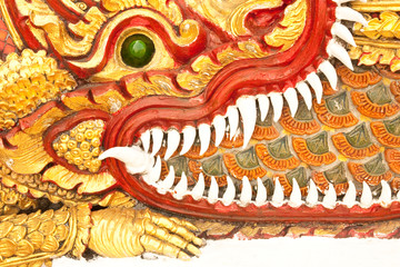 Crocodile in traditional Thai style molding