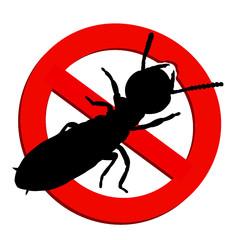 interdit aux termites