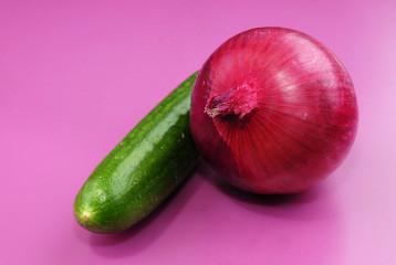 Onion & cucumber