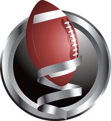 Silver football icon