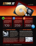 Hard Disk promotional brochure poster
