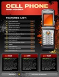 Cell Phone Promotional Brochure poster