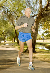 Octogenarian Runner athlete