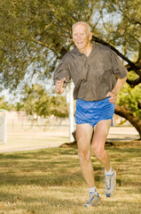 Octogenarian Athlete Running