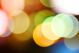 Colorful bokeh circles background poster