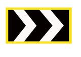 motorway chevron sign poster